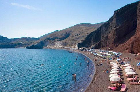 Santorini beach retro pics 18